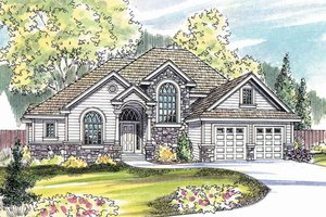 Home Plan Design - Traditional Exterior - Front Elevation Plan #124-483