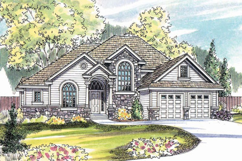 Home Plan - Traditional Exterior - Front Elevation Plan #124-483