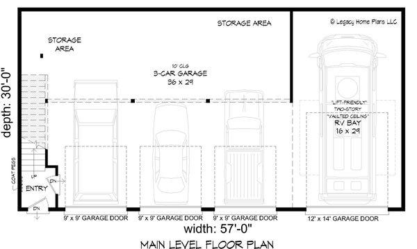Dream House Plan - Contemporary Floor Plan - Main Floor Plan #932-307