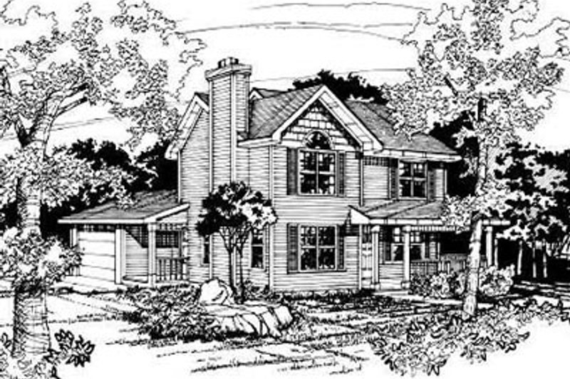 Traditional Exterior - Front Elevation Plan #50-207 - Houseplans.com