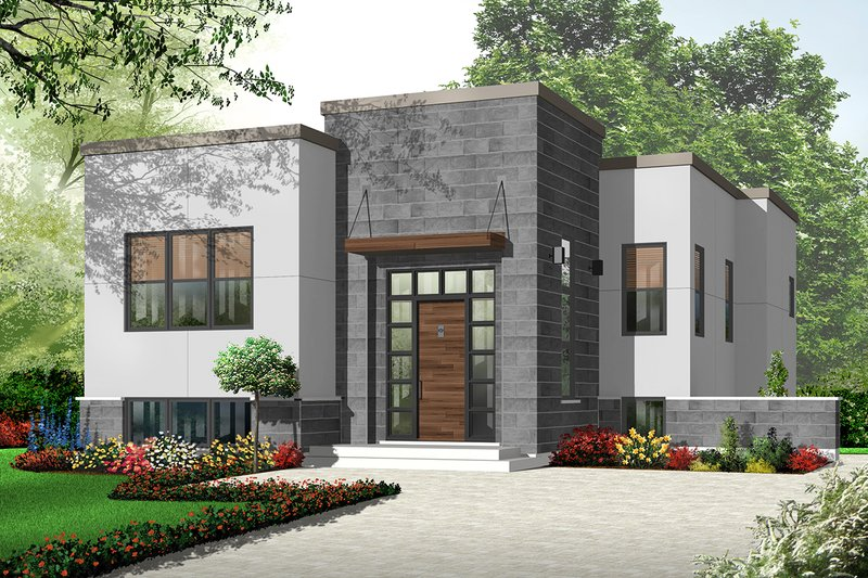 Home Plan - Modern Exterior - Front Elevation Plan #23-2226