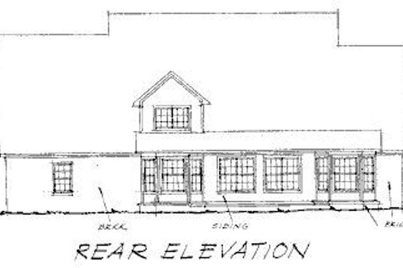 Country Exterior - Rear Elevation Plan #20-200 - Houseplans.com