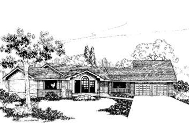 Traditional Exterior - Front Elevation Plan #60-328 - Houseplans.com