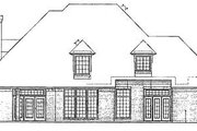 European Style House Plan - 4 Beds 4 Baths 3062 Sq/Ft Plan #310-634 Exterior - Rear Elevation