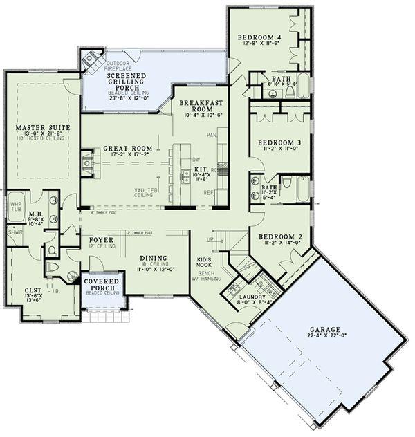 European Floor Plan - Main Floor Plan #17-2556