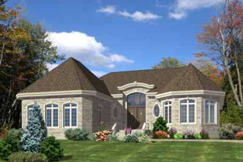 European Style House Plan - 2 Beds 1.5 Baths 1776 Sq/Ft Plan #138-170 Exterior - Front Elevation