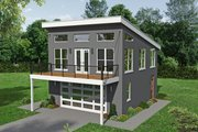 Contemporary Style House Plan - 1 Beds 1.5 Baths 834 Sq/Ft Plan #932-216 Exterior - Front Elevation