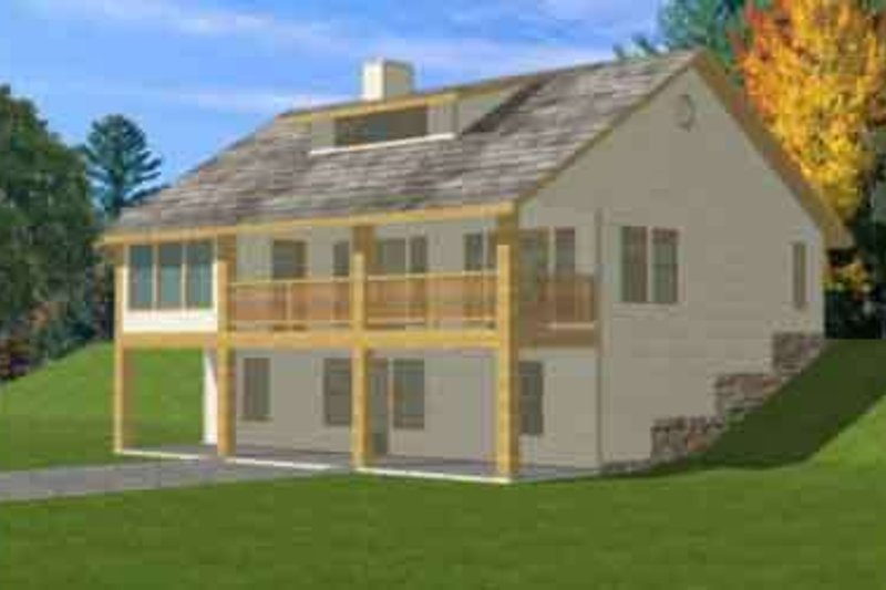 Traditional Style House Plan - 4 Beds 2.5 Baths 2338 Sq/Ft Plan #117-292 Exterior - Front Elevation
