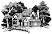Traditional Style House Plan - 4 Beds 3 Baths 2490 Sq/Ft Plan #50-167 Exterior - Front Elevation