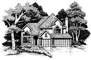 Traditional Exterior - Front Elevation Plan #50-167