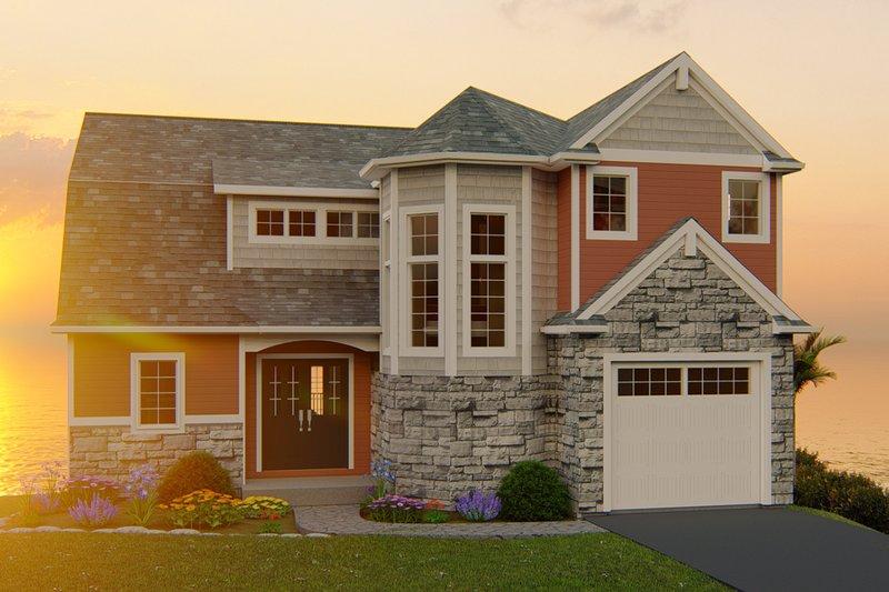 Dream House Plan - Craftsman Exterior - Front Elevation Plan #1064-13