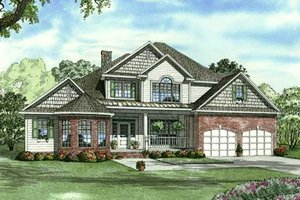 Traditional Exterior - Front Elevation Plan #17-2132
