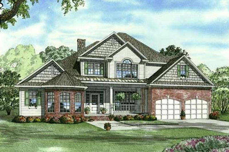 Architectural House Design - Traditional Exterior - Front Elevation Plan #17-2132