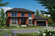 Contemporary Style House Plan - 3 Beds 2 Baths 2558 Sq/Ft Plan #25-4625 Exterior - Front Elevation