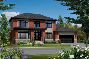 Contemporary Exterior - Front Elevation Plan #25-4625