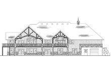 House Plan Design - European Exterior - Rear Elevation Plan #5-365