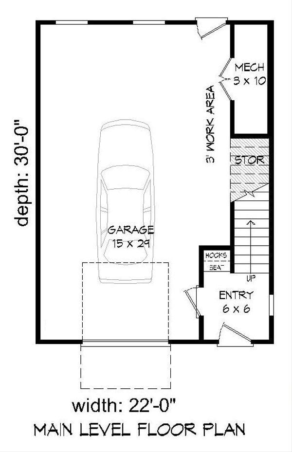 Architectural House Design - Contemporary Floor Plan - Main Floor Plan #932-127