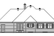 Traditional Style House Plan - 3 Beds 1 Baths 1370 Sq/Ft Plan #23-137 Exterior - Rear Elevation