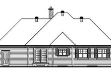 Home Plan Design - Traditional Exterior - Rear Elevation Plan #23-137