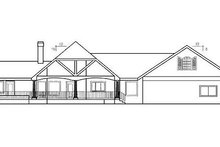 Country Exterior - Rear Elevation Plan #60-223