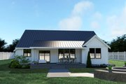 Farmhouse Style House Plan - 3 Beds 2 Baths 1690 Sq/Ft Plan #1070-21 Exterior - Rear Elevation