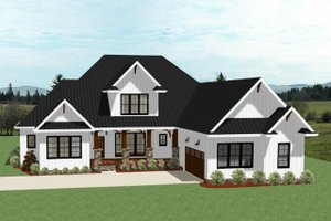 Farmhouse Exterior - Front Elevation Plan #898-40