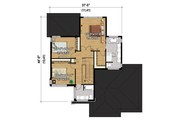 Contemporary Style House Plan - 3 Beds 2 Baths 2132 Sq/Ft Plan #25-4341 Floor Plan - Upper Floor Plan