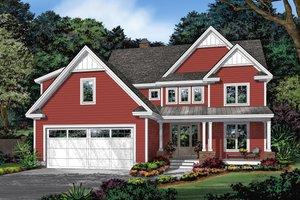 Dream House Plan - Farmhouse Exterior - Front Elevation Plan #929-1115