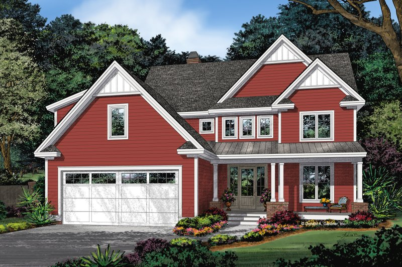 Architectural House Design - Farmhouse Exterior - Front Elevation Plan #929-1115