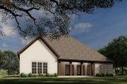 European Style House Plan - 4 Beds 3 Baths 2071 Sq/Ft Plan #923-28 Exterior - Rear Elevation