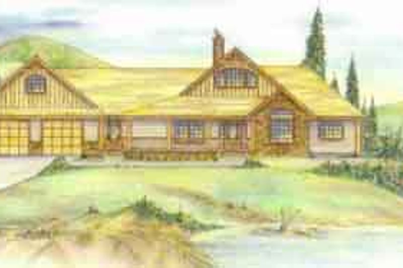 Traditional Exterior - Front Elevation Plan #117-226 - Houseplans.com