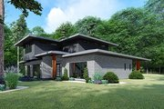 Contemporary Style House Plan - 3 Beds 2 Baths 2092 Sq/Ft Plan #17-3426 Exterior - Other Elevation