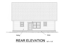 Cottage Exterior - Rear Elevation Plan #513-6