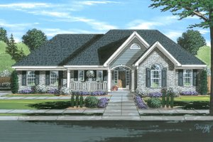 Dream House Plan - Traditional Exterior - Front Elevation Plan #46-901