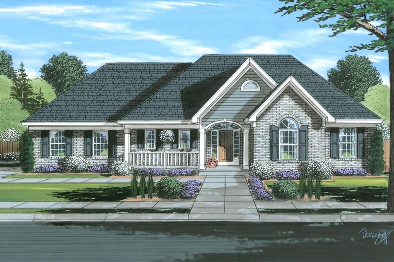 House Plan Design - Traditional Exterior - Front Elevation Plan #46-901