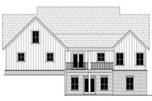 House Plan Design - Country Exterior - Rear Elevation Plan #21-444
