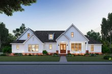 Dream House Plan - Farmhouse Exterior - Front Elevation Plan #1074-7