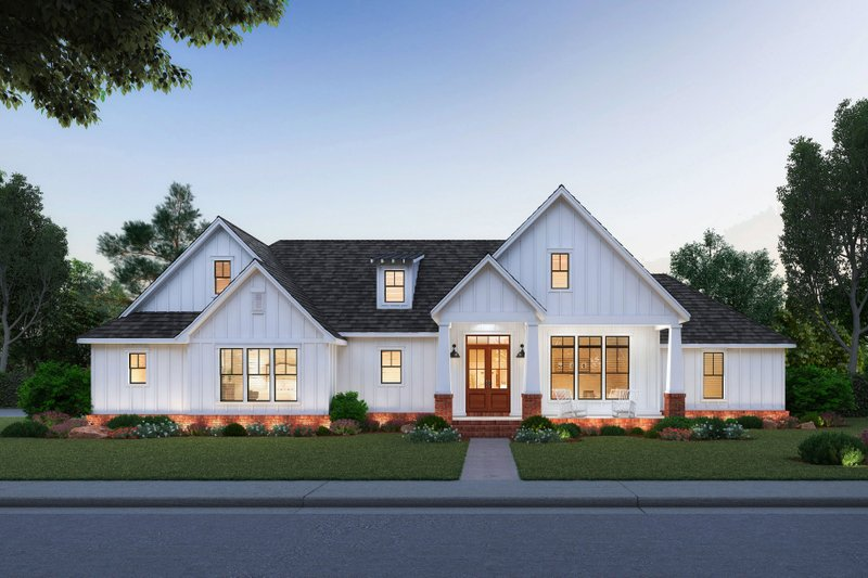 Dream House Plan - Farmhouse Exterior - Front Elevation Plan #1074-7