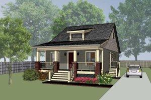 Cottage Exterior - Front Elevation Plan #79-128