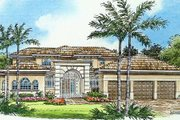 Mediterranean Style House Plan - 4 Beds 5.5 Baths 6041 Sq/Ft Plan #420-184 Exterior - Other Elevation