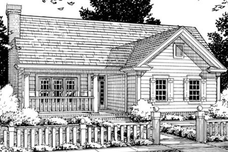 Architectural House Design - Country Exterior - Front Elevation Plan #20-337