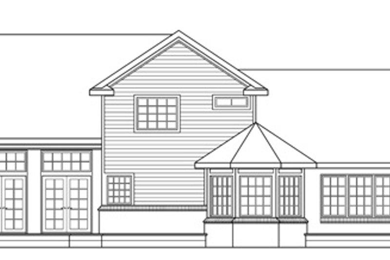 Farmhouse Exterior - Rear Elevation Plan #124-189 - Houseplans.com