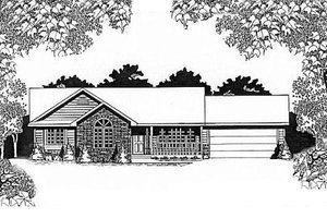 Architectural House Design - Traditional Exterior - Front Elevation Plan #58-121