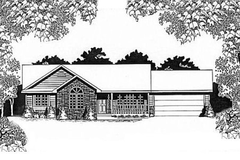 Traditional Exterior - Front Elevation Plan #58-121 - Houseplans.com