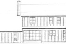 House Blueprint - Country Exterior - Rear Elevation Plan #72-448