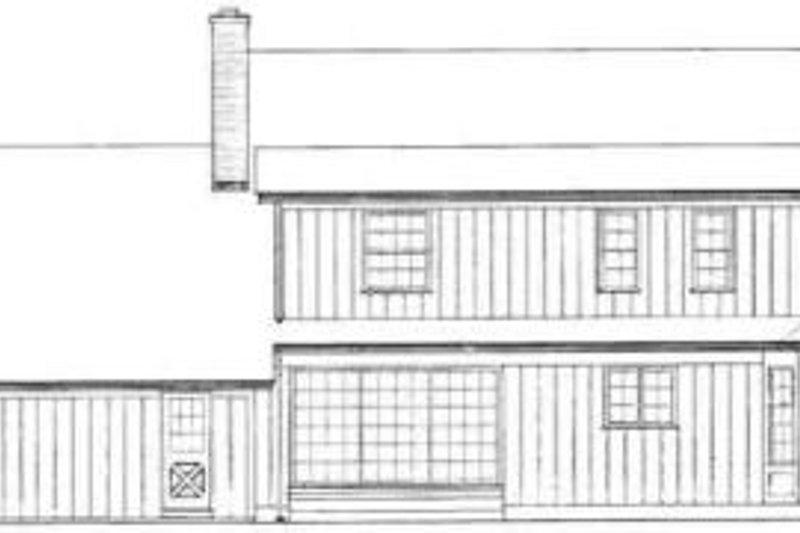 Country Exterior - Rear Elevation Plan #72-448 - Houseplans.com
