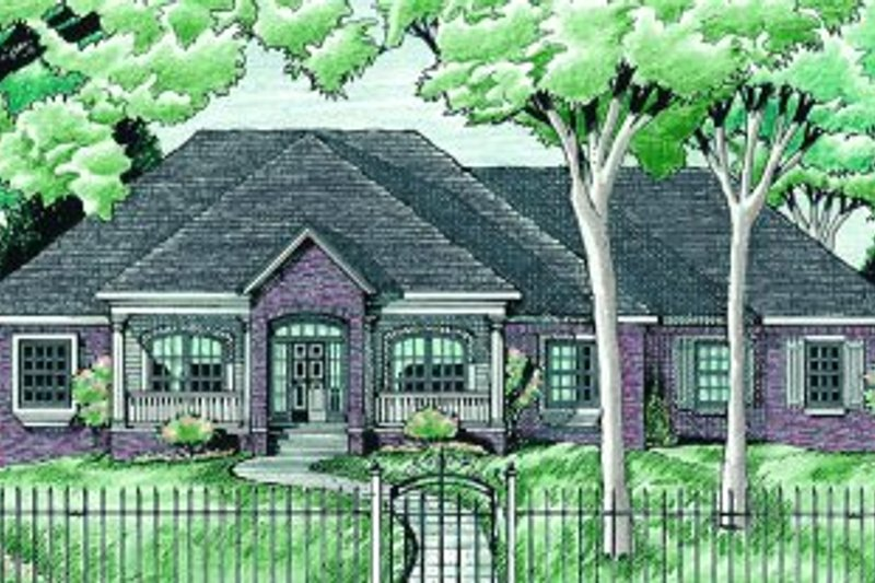 Home Plan - Traditional Exterior - Front Elevation Plan #20-156