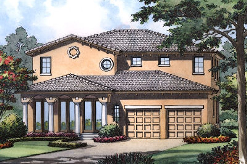European Exterior - Front Elevation Plan #417-356