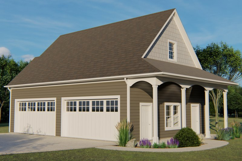House Plan Design - Country Exterior - Front Elevation Plan #1064-77