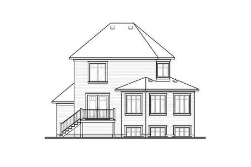 Country Exterior - Rear Elevation Plan #23-2192 - Houseplans.com